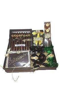 Caixa de Presente Chocolates Dia dos Pais Felicidades