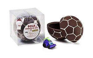 BOLA DE CHOCOLATE AO LEITE DECORADO C/ BRANCO 150G
