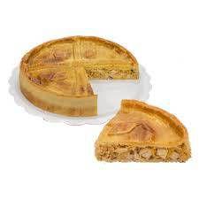 Torta Salgada de frango com requeijão  - 500g serve 4 a 5 pessoas - Congelada