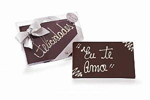 PLACA DE CHOCOLATE AO LEITE COM DIZERES