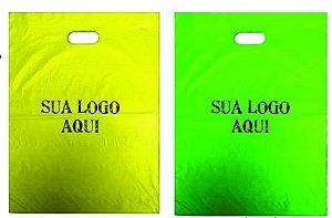 Sacola Plástica Personalizada Boca Vazada (Boca de Palhaço)