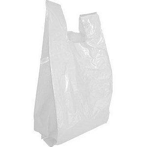 Sacola Plástica Alça Camiseta 25X35X0,04