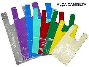 Sacola Plástica Alça Camiseta 40X50X0,05