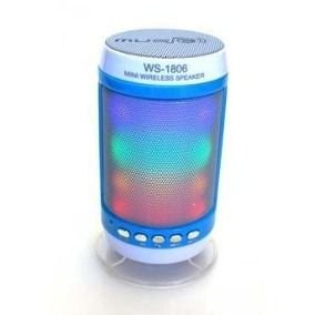 CAIXA DE SOM SPEAKER BLUETOOTH IPAD IPHONE ANDROID WS 1806B