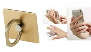 Universal Gold Premium Ring Hook KickStand For Smartphone & Tablet