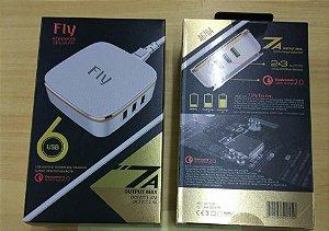 EXTENSOR USB COM 6 ENTRADAS PARA COMPUTADOR
