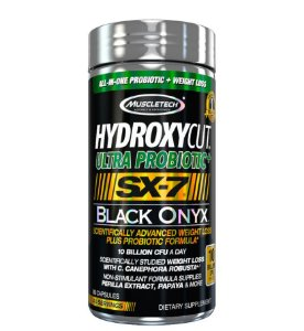 HYDROXYCUT ULTRA PROBIOTIC SX-7 BLACK ONYX 80 CÁPSULAS - MUSCLETECH