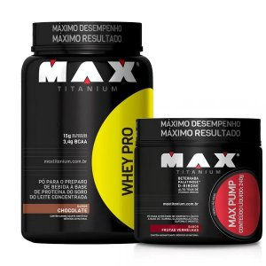 COMBO WHEY PRO 1 KG + MAX PUMP 240 GR