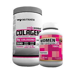 Combo Colágeno 300g + Women Vita Complex 120 cápsulas