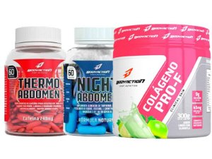 KIT EMAGRECIMENTO: THERMO ABDOMEN + NIGHT ABDOMEN + COLÁGENO - BODY ACTION