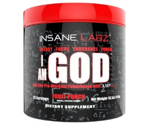 PRE-TREINO I AM GOD 25 DOSES - INSANE LABZ