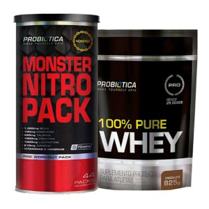 MONSTER NITRO 44 PACKS + 100% PURE WHEY DE BRINDE!