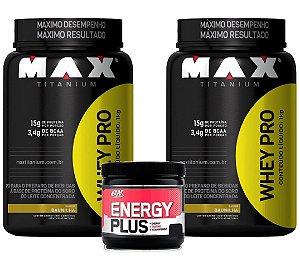COMBO 2X WHEY PRO + ENERGY PLUS 30 DOSES