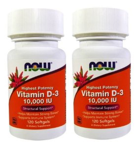 2X VITAMINA D-3 120 SOFTGELS 10.000 IU - NOW FOODS