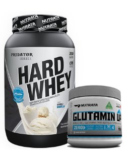 HARD WHEY 900 GR + GLUTAMINA 150 GR - NUTRATA (FRETE GRÁTIS)