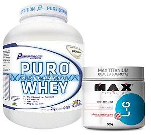 PURO WHEY 2KG + GLUTAMINA 300 GR MAX TITANIUM