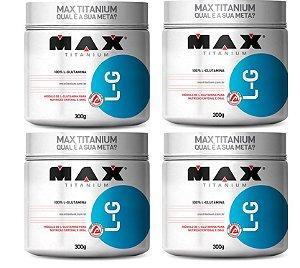 4X GLUTAMINA 300 GR (ATACADO) - MAX TITANIUM