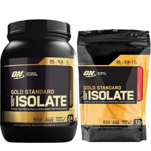 100% GOLD STANDARD ISOLATE 1.58 LIBRAS + REFIL BRINDE - OPTIMUM NUTRITION