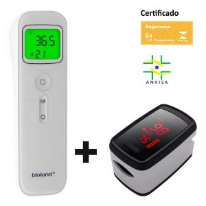 Termômetro Sem Contato + Oxímetro De Dedo