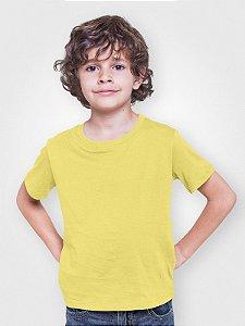 Camiseta Infantil Menino Meia Manga Amarela cmc1
