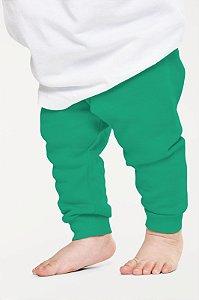 Calça Mijão Bebe em Ribana Algodão com Elastano Verde Claro mjb2