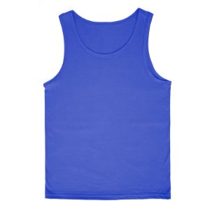 Regata Lisa Infantil 100% Algodão Azul rmi2