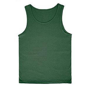 Regata Lisa Infantil 100% Algodão Verde Escuro rmi2