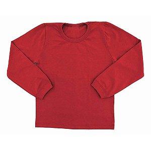 Camiseta Infantil Manga Longa Com Punho Algodão Cml6