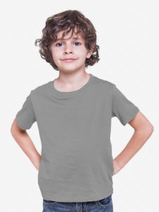 Camiseta Infantil Menino Meia Manga Cinza cmc1