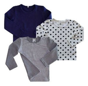 Kit C/ 3! Camiseta Blusa Infantil Menina Manga Longa Bli-6