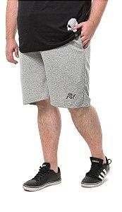 Bermuda Masculina Plus Size com Bolso Cinza Mescla Wb-bma6