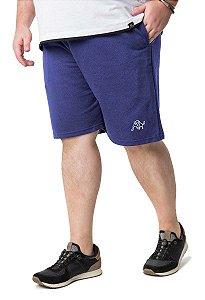 Bermuda Plus Size Masculina com Bolso Azul Escuro Wb-bma6
