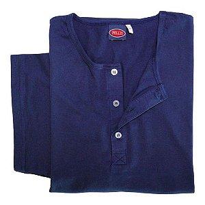 Camiseta Plus Size Masculina Com Botão Manga Curta Ref 605 cpp2