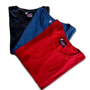 Kit 3! Camiseta Masculina Meia Manga Plus Size 597k cmk1
