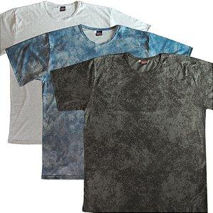 Kit 3! Camiseta Masculina Meia Manga Plus Size 597k cmk2