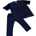 Pijama Masculino Plus Size Tam Grandes Calça e Manga Curta pjp7