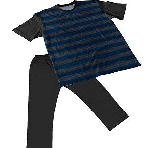 Pijama Masculino Calça e Manga Curta Plus Size Tam Grandes pjp7