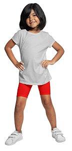 Bermudas Meninas Em Cotton Algodão Vermelha bif1