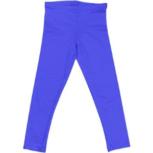 Calça Legging Infantil Menina Azul Turquesa lgi8