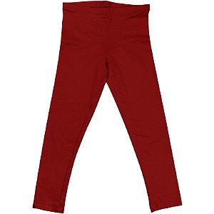 Calça Legging Infantil Menina Vermelho Escuro lgi8