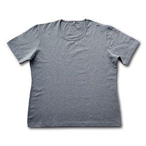 Blusa Feminina Plus Size Algodão Cinza Mescla bfp2