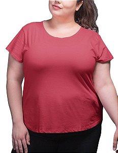 Blusa Feminina Plus Size Algodão Vermelho bfp2