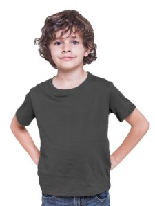 Camiseta Infantil Menino Meia Manga Cinza Escuro cmc1