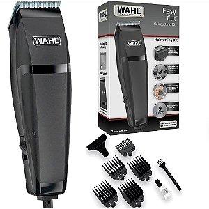 Máquina de Cortar Cabelo e Barba Wahl Easy Cut  - com 9 Acessórios - Lâminas Autoafiáveis - Preto
