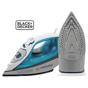 Ferro de Passar a Vapor Black+Decker Speed Steam FX3060 - Base Ceramic Gliss, Sistema Antigotejamento e Vapor Vertical