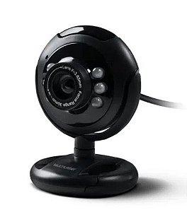 Webcam Plug e Play 16MP Nightvision USB  WC045 Multilaser