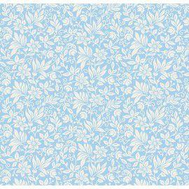 Tecido 100% Algodão Flor Gerbera Azul 1,40m x 50cm - Caldeira