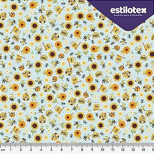 Tecido de Algodão Mundo das Abelhas 1,40 m x 50 cm Estilotex