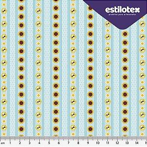 Tecido de Algodão Chuva de Abelha 1,40 m x 50 cm Estilotex
