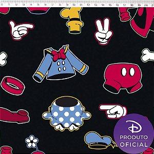 Tecido 100% Algodão Disney Mickey Mouse 1,48m x 50cm - Fernando Maluhy